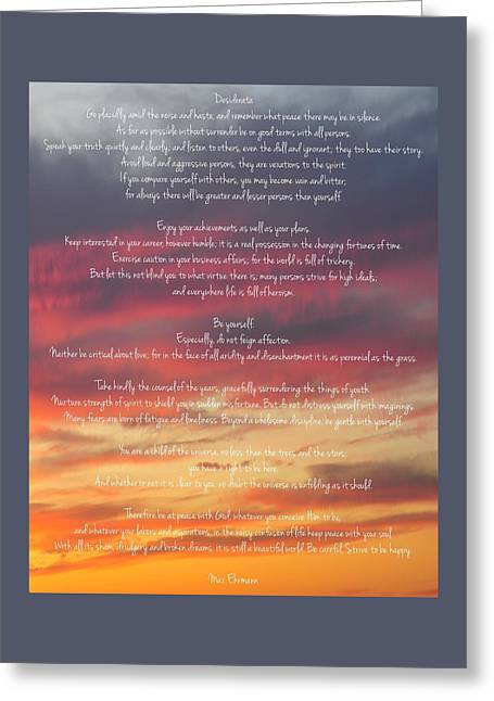 Desiderata Sky 2 Greeting Card