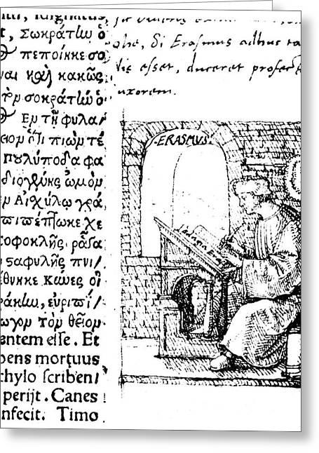 Desiderius Erasmus (1456?-1536) Greeting Card