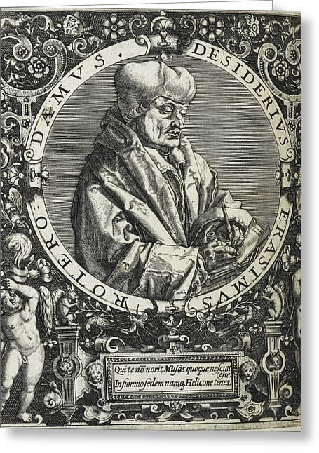 Desiderius Erasmus Greeting Card by British Library