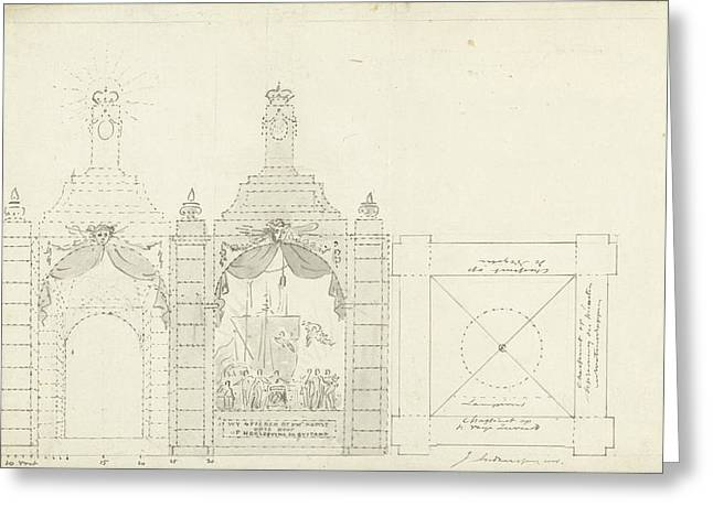 Design For A Temple At The Occasion Of The Freedom Greeting Card by Quint Lox