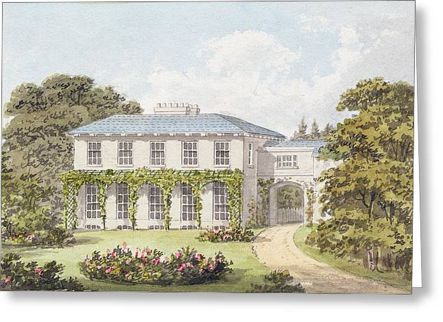 Design For The South Front Of A House Greeting Card by Humphry Repton