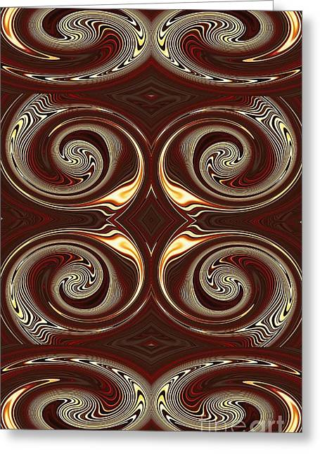 Design On Brown Greeting Card