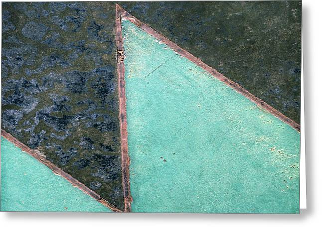 Design Underfoot   Abstract Photograph Greeting Card by Ann Powell