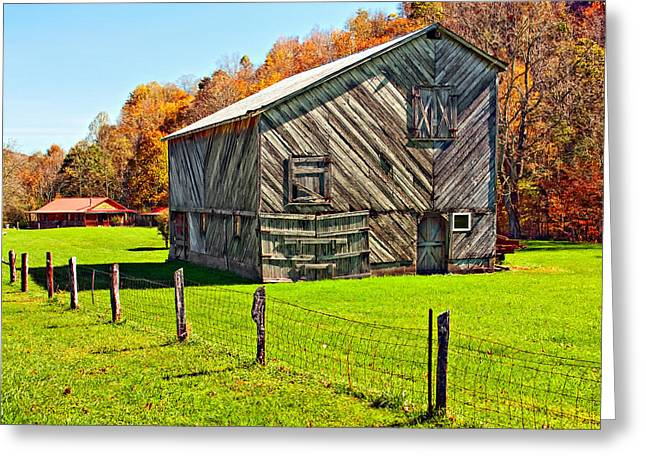 Designer Barn Greeting Card by Steve Harrington