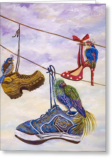 Designer Bird Nests Greeting Card
