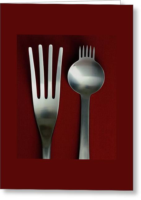 Designer Cutlery Greeting Card by Romulo Yanes