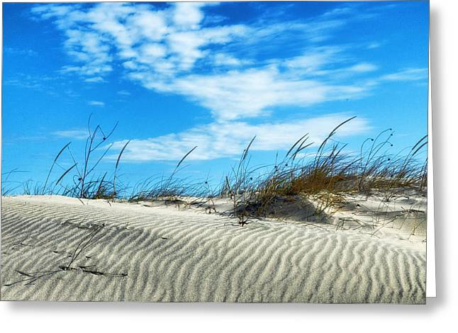 Greeting Card featuring the photograph Designs In Sand And Clouds by Gary Slawsky