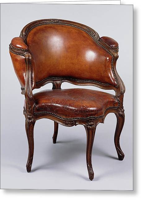 Desk Chair Fauteuil De Cabinet Attributed To Étienne Greeting Card by Litz Collection