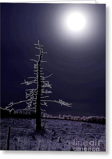 Desolate Moon Greeting Card