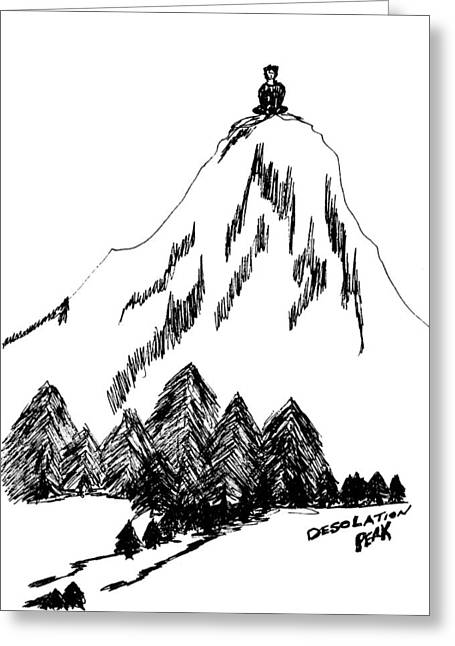 Desolation Peak_alone Time Greeting Card by Donna Haggerty
