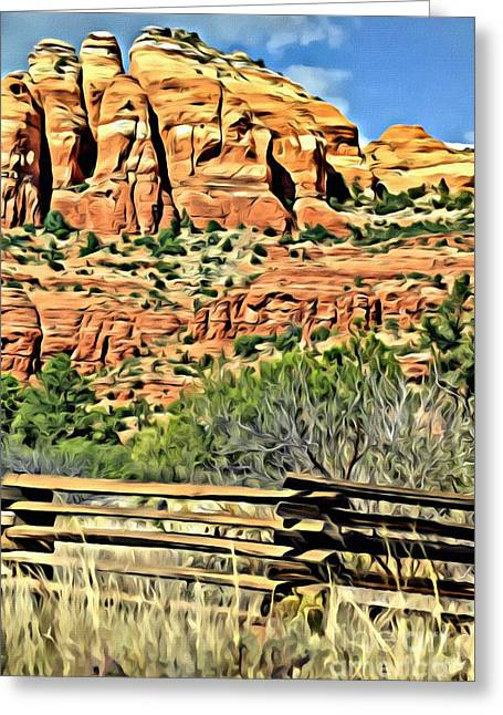Greeting Card featuring the photograph Dessert View by Lori Mellen-Pagliaro