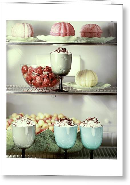 Desserts In A Refrigerator Greeting Card