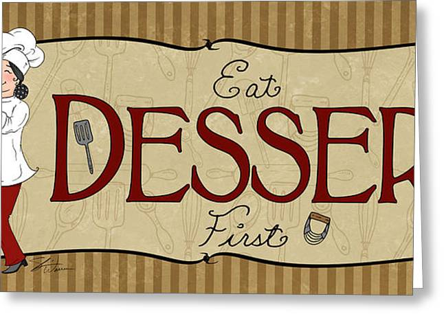 Desserts Kitchen Sign-dessert Greeting Card