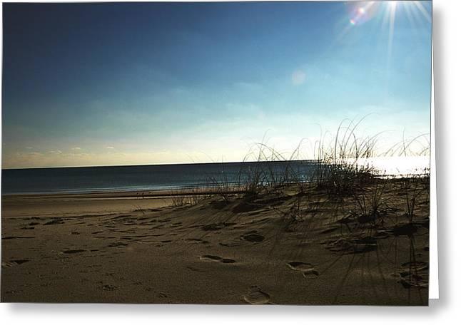 Greeting Card featuring the photograph Destin Beach Sun Glare by Donald Williams
