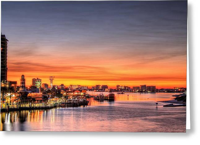 Destin Harbor Greeting Card by JC Findley