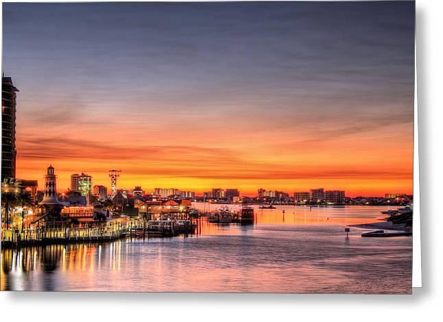 Destin Harbor Greeting Card by JC Findley