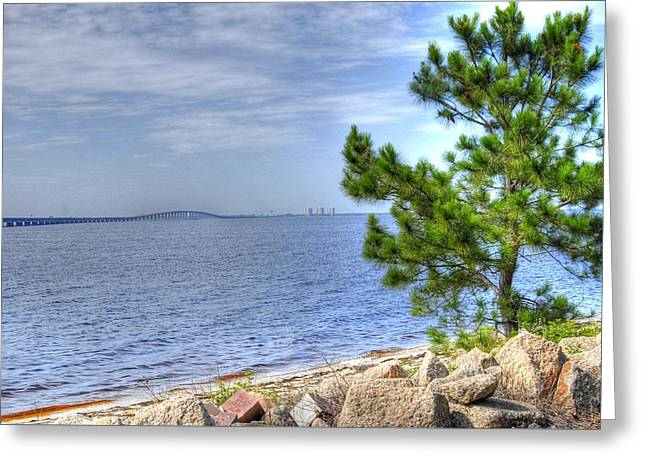 Greeting Card featuring the photograph Destin Midbay Bridge by Donald Williams