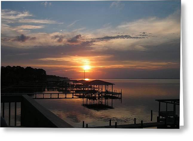 Destin Sunset Greeting Card