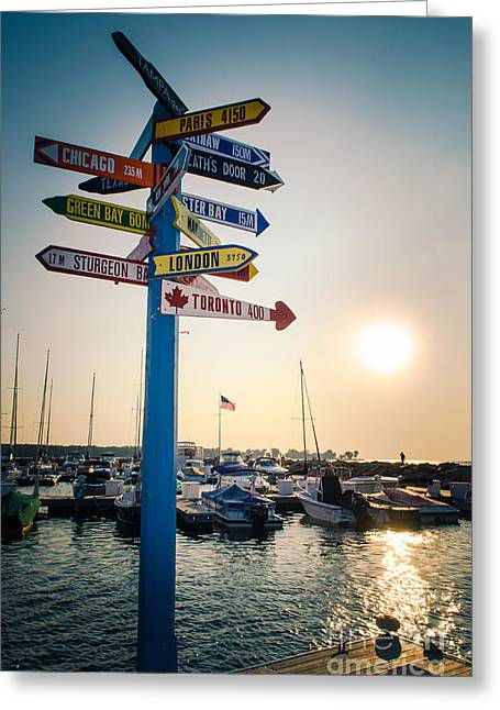 Greeting Card featuring the photograph Destination Egg Harbor by Mark David Zahn Photography