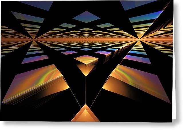 Greeting Card featuring the digital art Destination Paths by GJ Blackman