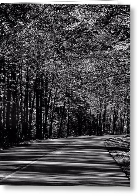 Destination Unknown Black And White Greeting Card