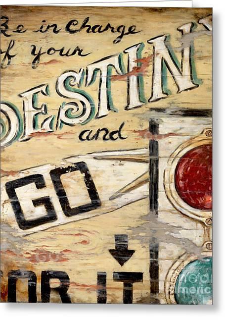 Destiny Greeting Card by Janet  Kruskamp