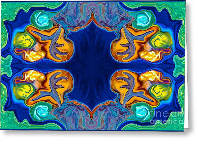 Destiny Unfolding Into An Abstract Pattern Greeting Card by Omaste Witkowski