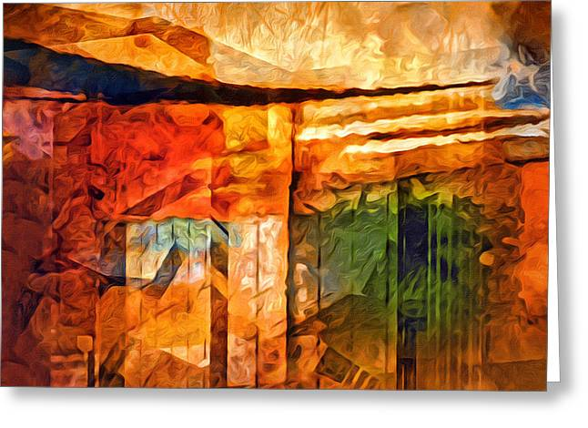 Destinyscape Painting Greeting Card by Lutz Baar