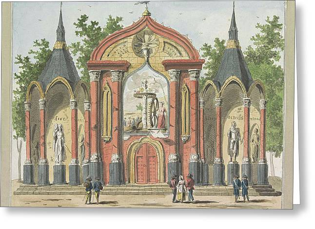 Destruction Of The Old Constitution, Decoration Greeting Card by A. Verkerk And Johannes Roelof Poster
