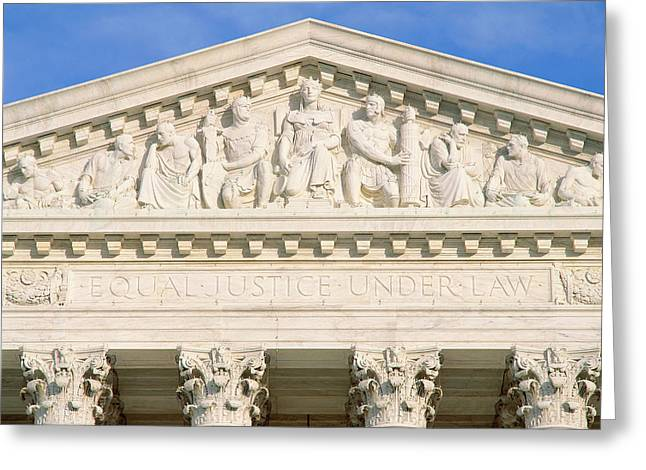 Detail From Supreme Court Building Greeting Card