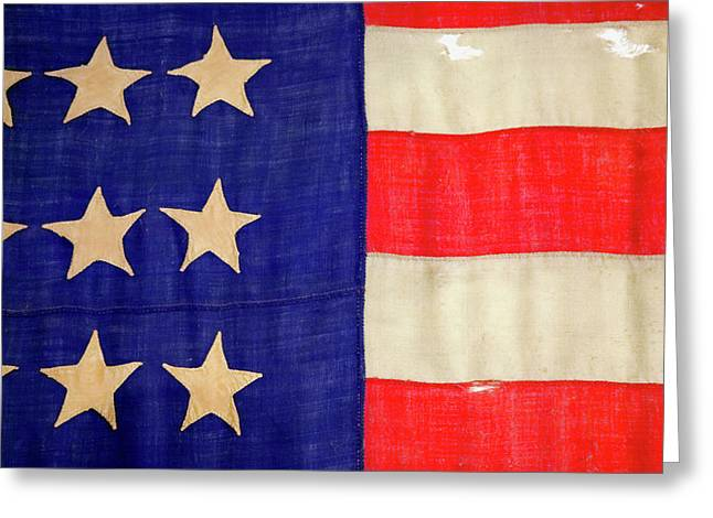 Detail Of A Civil War Flag In Drummer Greeting Card