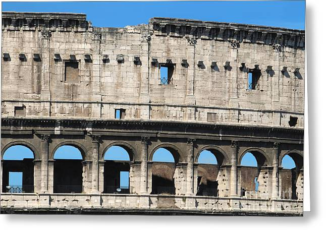 Detail Of Colosseum Facade Greeting Card by Kiril Stanchev