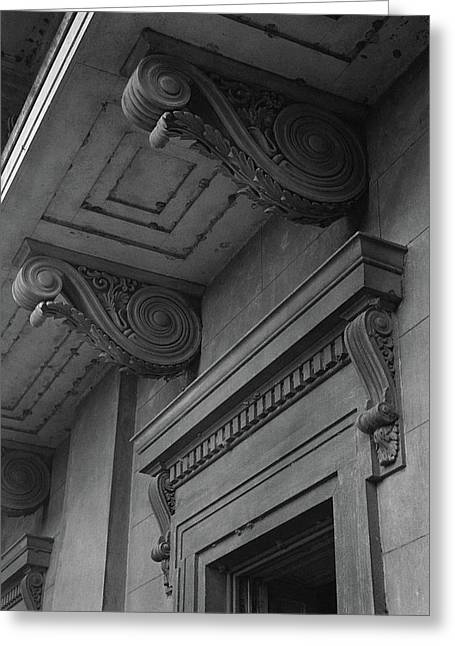 Detail Of Exterior Molding At A Plantation Home Greeting Card