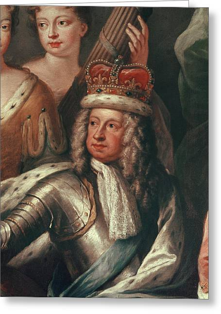 Detail Of George I From The Painted Hall, Greenwich Greeting Card