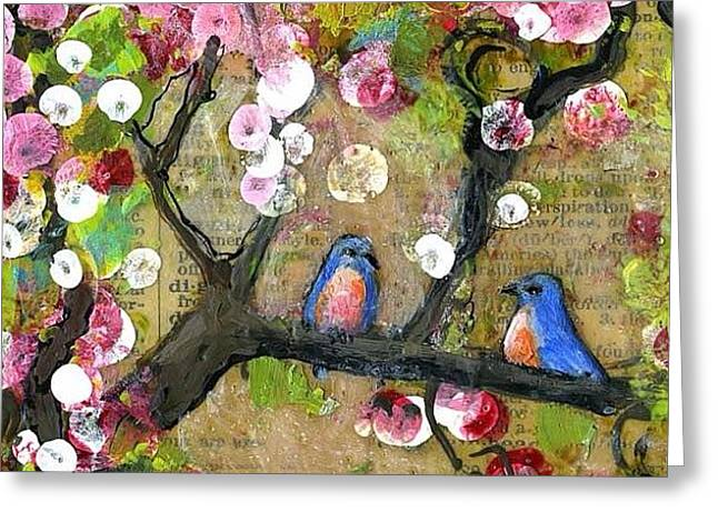Detail Of Painting From The Lexicon Greeting Card by Blenda Studio