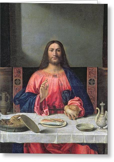 Detail Of The Supper At Emmaus Greeting Card