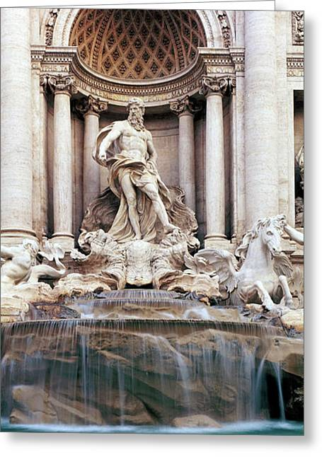Detail Of The Trevi Fountain, Rome Greeting Card by Panoramic Images
