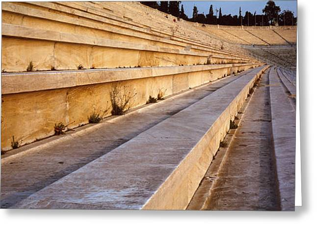 Detail Olympic Stadium Athens Greece Greeting Card by Panoramic Images