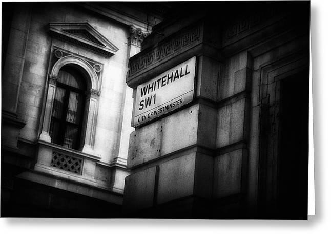 Details From Whitehall London Greeting Card by Paul Bucknall
