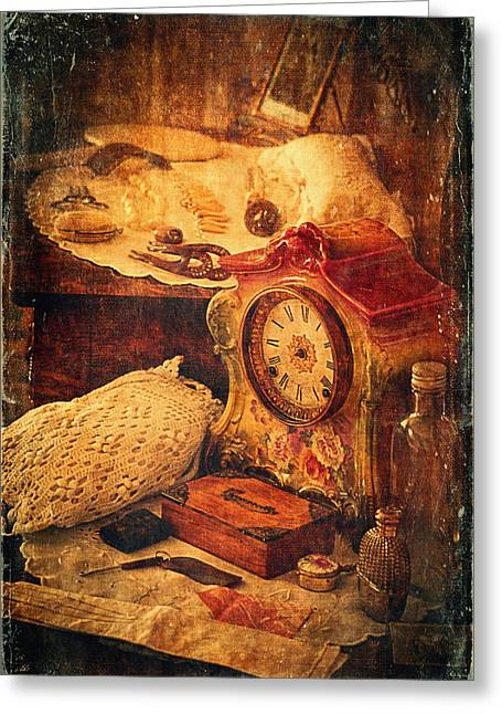 Antique Details Greeting Card by Maria Angelica Maira