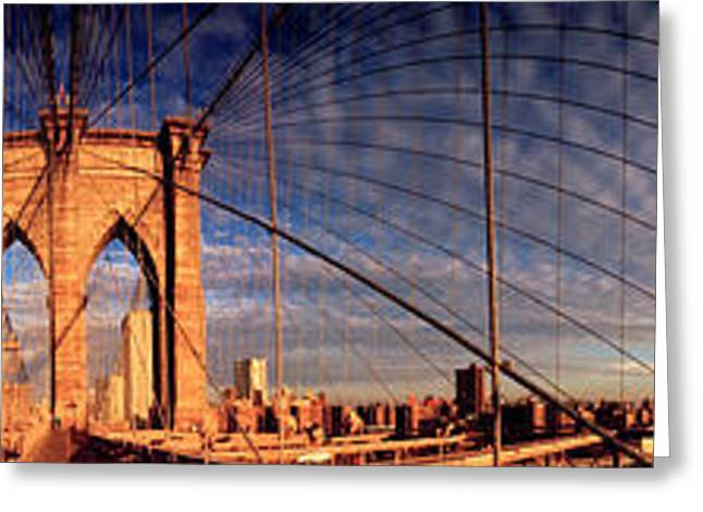 Details Of The Brooklyn Bridge, New Greeting Card
