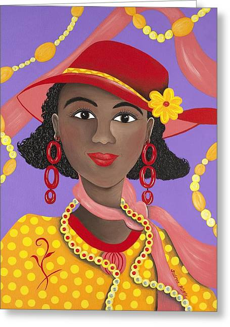 Determined Greeting Card by Patricia Sabree