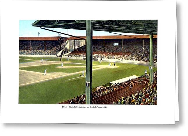 Detroit - Navin Field - Detroit Tigers - Michigan And Trumbull Avenues - 1914 Greeting Card