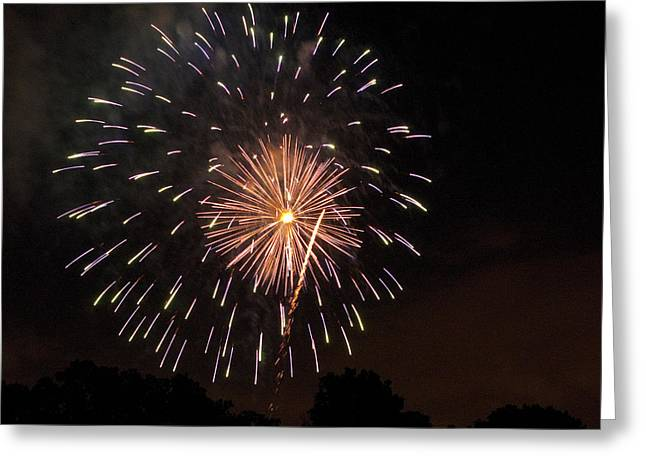 Detroit Area Fireworks -10 Greeting Card by Paul Cannon