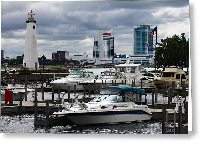 Detroit Boat Docks Greeting Card