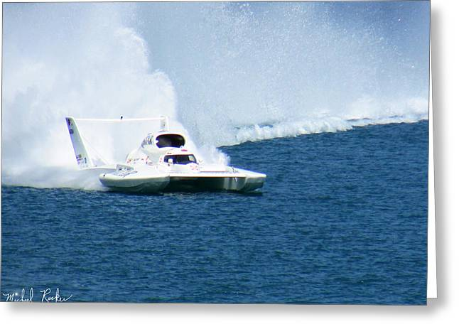 Detroit Gold Cup Hydroplane Race Greeting Card