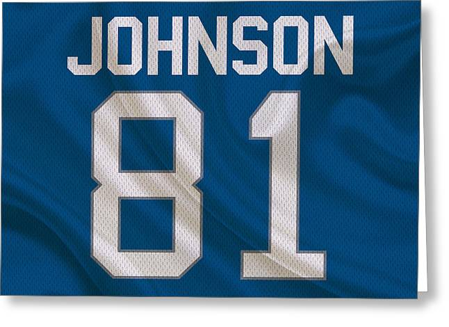 Detroit Lions Calvin Johnson Greeting Card