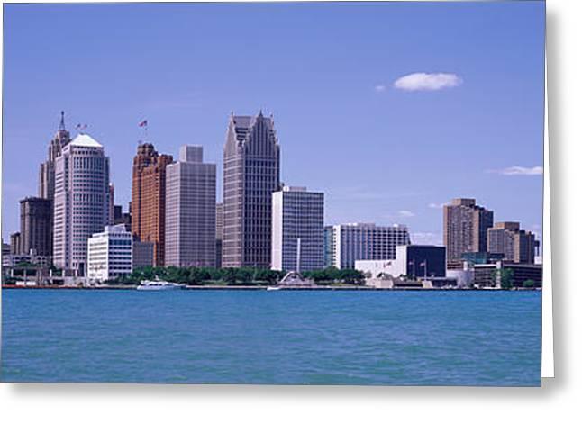 Detroit Mi Usa Greeting Card