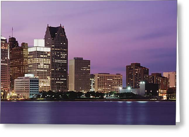 Detroit, Michigan, Usa Greeting Card