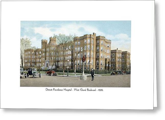 Detroit - Providence Hospital - West Grand Boulevard - 1926 Greeting Card